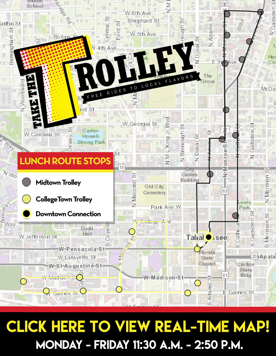 Trolley Daytime Route Map