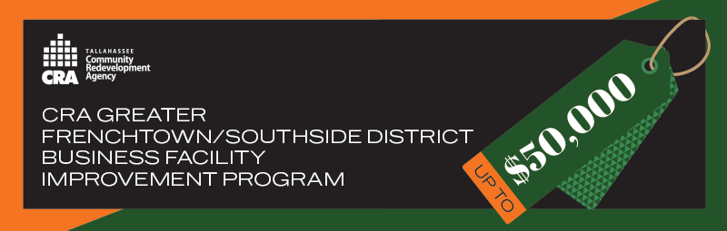 CRA Greater Frenchtown / Southside District Business Facility Improvement Program - up to $50,000