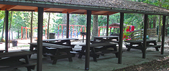 The picnic area at A.J. Henry Park