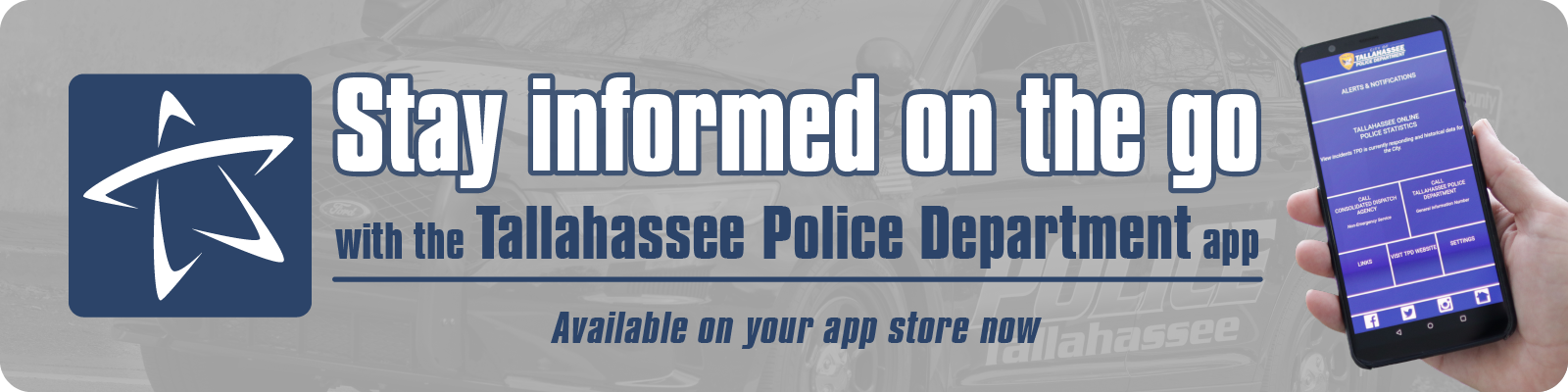 Stay informed on the go - with the TPD mobile app available on your app store now