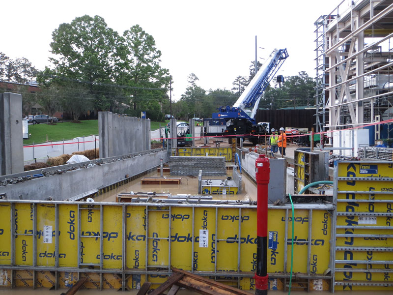 Substation 12 construction update photo - tank containment